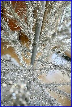 Vintage Aluminum Christmas Tree MID Century Stainless Silver Warren Nearly 6