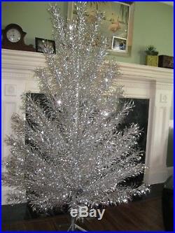 Vintage Aluminum Christmas tree 6 &1/2 foot United States Silver Tree Co. NICE