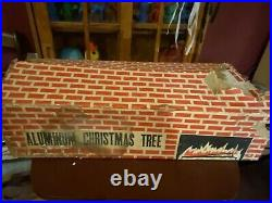 Vintage Aluminum Silver Christmas Tree, 6 Foot, With All 49 Branches