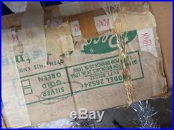 Vintage Aluminum Silver Pom Pom Christmas Tree 1960s Tinsel Feather Tree 6