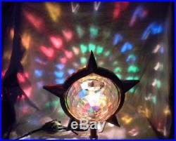 Vintage Bradford SILVER Celestial Christmas Tree Star Motion Rotating STARS L 38