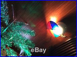 Vintage Christmas Silver Glow 6 Foot Aluminum Tree With Penetray Color Wheel