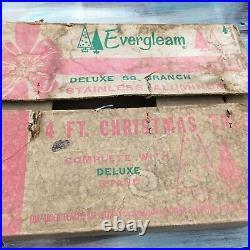 Vintage Evergleam 4 Ft Stainless Aluminum Christmas Tree