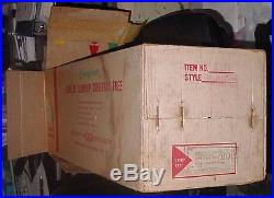 Vintage Evergleam 7 Ft 100 Branch Aluminum Silver Christmas Tree Box 2 Poles