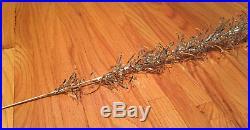 Vintage Evergleam 7' Silver Aluminum Pom Christmas Tree 100 Branch Original Box