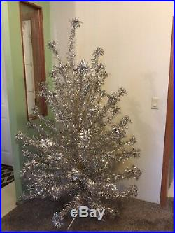 Vintage Evergleam Aluminum Silver Christmas Tree 6 Foot with 94 Branches