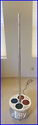 Vintage Evergreen 8ft Aluminum Christmas Tree With Revolving Tri-Lite Stand