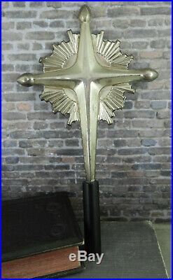 Vintage Gorham Sterling Silver Cross Christmas Tree Topper 440