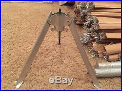 Vintage MCM 6 ft The Sparkler Pom Pom Aluminum Christmas Tree m-694 silver