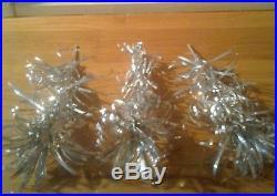Vintage MCM modern 60's silver aluminum pom pom holiday christmas tree 24