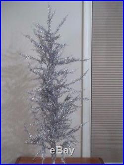 Vintage Mark Roberts 3' Silver Tinsel Decorative Christmas Tree 38 Tabletop