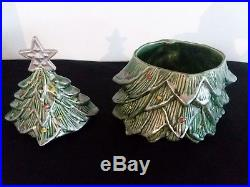 Vintage McCoy USA Pottery Christmas Tree Cookie Jar with ...