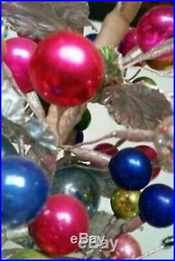 Vintage Mercury Ball/silver Leaf Christmas Tree