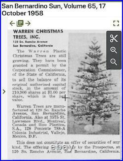 Vintage Mid-Century Aluminum Silver 6 Christmas Tree
