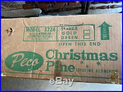 Vintage Peco Aluminum 6 8 151 Branches Silver Pom Pom Christmas Tree # 3724