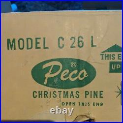 Vintage Peco Aluminum Christmas Tree 6 Ft 78 Branches Pompom Silver C26l