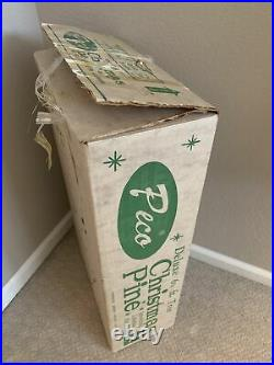 Vintage Peco Deluxe 6 1/2 ft. Sparking Aluminum Tree Original Box