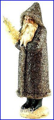 Vintage Ragon House 17 Belsnickle Santa Figurine SILVER GLITTER German Tree