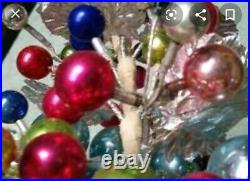 Vintage Rare Mercury Ball/silver Leaf Christmas Tree