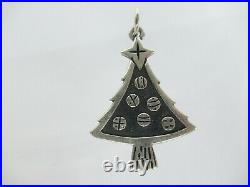 Vintage Retired James Avery Sterling Silver Christmas Tree w Ornaments Charm