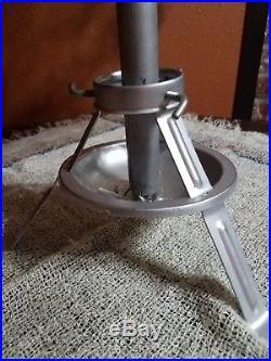 Vintage Retro Alcoa Aluminum 4' Silver Christmas Tree with original stand