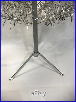 Vintage SILVER Christmas Tree 48 Mid Century Style