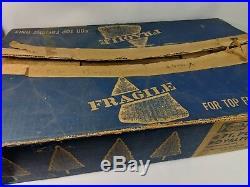 Vintage Silver Aluminum Tinsel 4 Foot Christmas Tree 4' Pom Pom