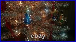 Vintage Silver Aluminum Tinsel Mid Century Christmas Tre FREE SHIP