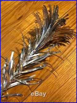 Vintage Silver Forest TINSEL Aluminum Pom Pom Christmas Tree In Box 4.5 Ft MCM