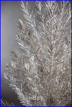 Vintage Silver Stainless Aluminum 6 FT Christmas Tree with Box, Stand & Sleeves
