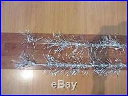 Vintage Silver Stainless Aluminum Christmas Tree 6½' Ft Lifetime 53 branch