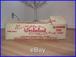 Vintage Silver Stainless Aluminum Christmas Tree 6½' Ft POM POM Wonderland 46 b
