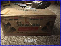 Vintage Sparkler Pom Pom 6 Ft Silver Aluminum Christmas Tree 91 Branches M-691E