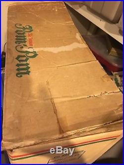 Vintage Sparkler Pom Pom 6 Ft Silver Aluminum Christmas Tree 91 Branches Star