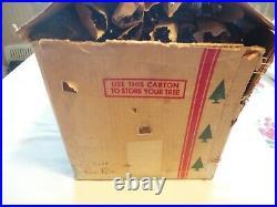 Vintage Sparkler Pom Pom Aluminum 7 Christmas Tree 118 Branches No Stand