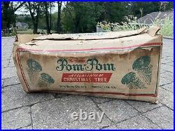 Vintage Sparkler Pom Pom Aluminum Christmas Tree 7 feet 149 Branches