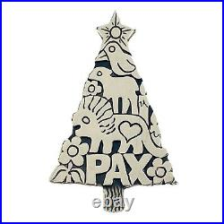 Vintage Sterling Silver James Avery PAX Animal Christmas Tree Pendant Brooch Pin