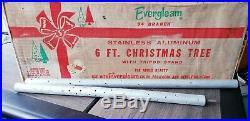 Vintage aluminum POM POM Christmas tree
