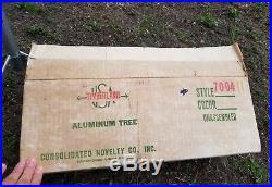 Vintage lot x 2 Silver Forest pom pom foil aluminum Christmas 6.5 trees rare