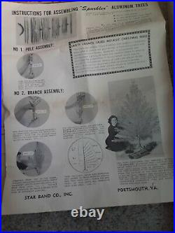 Vtg 2 Ft Pom Pom X-mas Tree