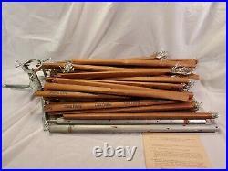 Vtg 6' Aluminum Silver Pine Christmas Tree 46 Branches Original Box & Sleeves