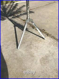 Vtg Ac Spark Plug Aluminum Metal Silver Xmas Tree 6ft 43 Branches Rare Promo Box