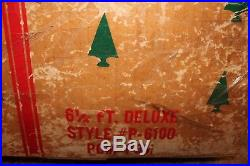 Vtg U. S. Silver Tree Co. 6 1/2 Ft Deluxe Aluminum Christmas Tree 100 Branches